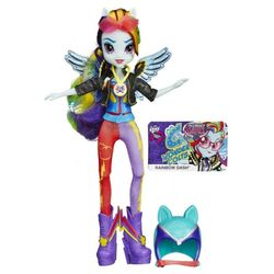 My Little Pony Кукла пони Рейнбоу Дэш Вондерколт Девушка Эквестрии Equestria Girls Rainbow Dash Sporty Style Motocross B1771/3776