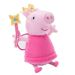 Мягкая игрушка Свинка Пеппа с волшебной палочкой 20 см Peppa Pig