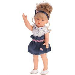 Коллекционная кукла Белла одета в бело-синее платье, Antonio Juan 45см 2809B