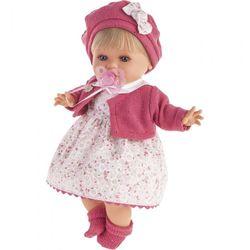 Реалистичная кукла младенец Кристиана озвученная, одежда в малиновом цвете 30см 1338R