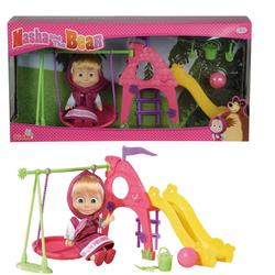 Маша и медведь игровой набор кукла Маша на детской площадке 9301816