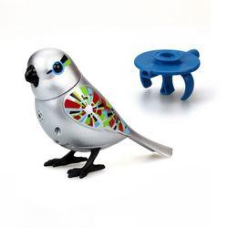 Интерактивная игрушка поющая птичка серебрянная и кольцо-свисток Digibirds 55 мелодий  88410