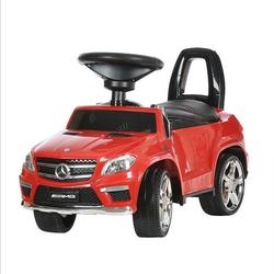 Каталка толокар Mercedes Benz GL63 AMG  свет, звук, кож.сиденье A888AA-D красный
