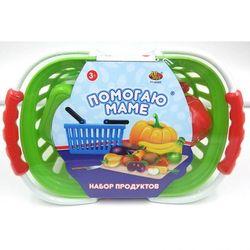 Игровой набор продуктов для резки на липучках Помогаю Маме в корзине РТ-00469