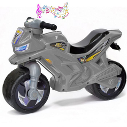 Каталка-мотоцикл беговел racer rz 1 OP501 озвученная серый