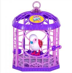 Интерактивная птичка в клетке Little Live Pets  28351 белая