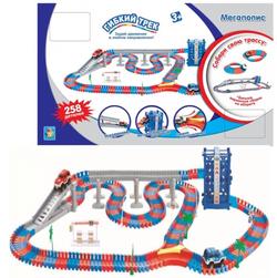 Гибкий трек Мегаполис 2 машинки 258 деталей 1 Toy Т10200