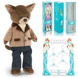 Мягкая игрушка Собака Чихуахуа Модный стиль Lucky Alex 35 см Lucky Doggy Оранж LD021