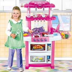 """Детская кухня с водой 83 см """"Happy Little Chef"""" 33 предмета 758B"""