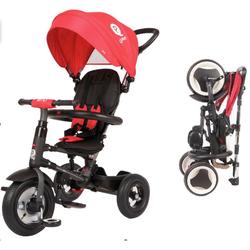 Трехколесный складной велосипед Q Play с надувными колесами  QA6R  красный