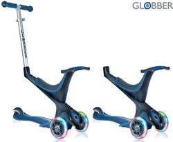 Самокат GLOBBER EVO 5 in 1 с 3 светящимися колесами Navy Blue