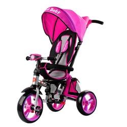 Трехколесный складной велосипед Smart baby TS2P розовый