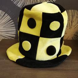 """Колпак шутовской шляпа """"Шашки"""" цвет желто-черный Е40263"""