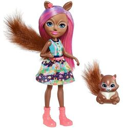 Enchantimals кукла Санча и ее питомец белочка Стампер FMT61