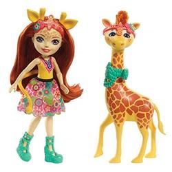 Enchantimals кукла Джиллиан и ее большой питомец жираф Пол FKY74