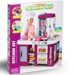 Детская игровая кухня с водой Kitchen Chef, свет и звук 53 предмета, 72 см 922-47 фиолетовая