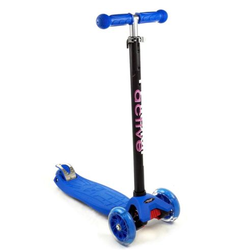Самокат трехколесный TRIUMF Active Maxi Flash со светящимися колесами SKL-07L синий