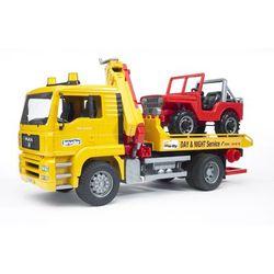 BRUDER Эвакуатор MAN с портативным краном и внедорожником 02-750
