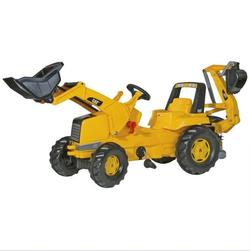 Трактор педальный rollyJunior CAT Backhoe-Loader 813001 от 4-х лет