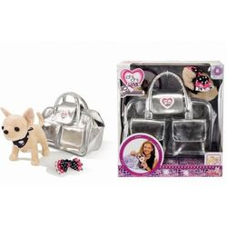 Chi Chi Love Плюшевая собачка Чихуахуа в сумочке Серебристый гламур 20см 5895104