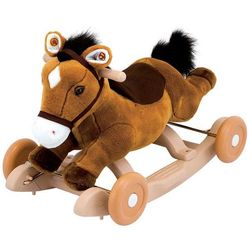 Каталка - качалка лошадка Пони плюшевая Kiddieland KID 033860