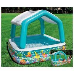 Детский надувной бассейн с козырьком квадратный Intex 57470