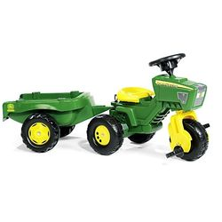 Rolly Toys Трактор педальный с прицепом rollyTrac John Deere 052769 от 2-х лет