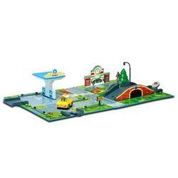 Робокар Поли Игровой набор Город с мостом + машинка Кэп Robocar Poli 83248