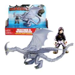 Dragons игрушка дракон Windsher с викингом Хизер 66594