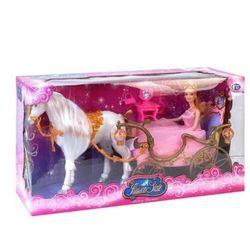 Карета для принцессы с лошадью и куклой, свет.эффекты 209A