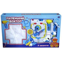 Игровой набор Маленький Доктор с халатом 8 предметов PT-00165