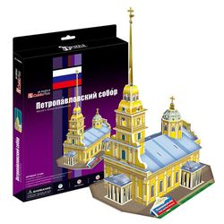 3D пазл Cubic Fun Петропавловский Собор Россия C140h