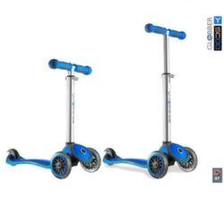 Трехколесный самокат Y-Scoo RT Globber My free blue с блокировкой колес