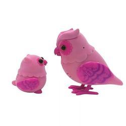 Little Live Pets Говорящая Сова с Совенком 28040 розовый