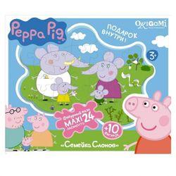 Свинка Пеппа Фигурный макси-пазл Семья Слонов, 24 детали Peppa Pig 01540