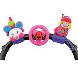 Набор развивающих игрушек для коляски: гусеничка, руль, телефон KA581