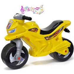 Каталка-мотоцикл беговел Racer RZ 1 ОР501 озвученная желтый