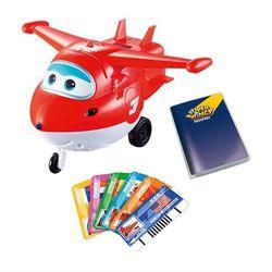 Самолет Джетт Супер Крылья с пластиковыми карточками разных стран, свет, звук YW710410
