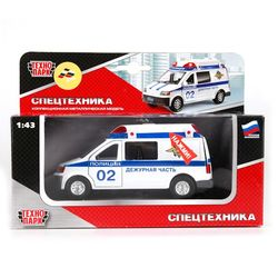 Машина Технопарк Микроавтобус Полиция свет, звук CT-1167(SL1106C)